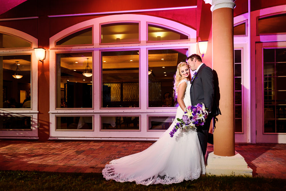 Groom whispering in Bride's ear outside, Star Wars Wedding in Scenic Hills Country Club, Lazzat Photography